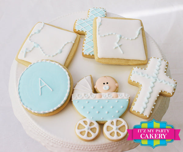 Baptism Cookies - It'z My Party Cakery