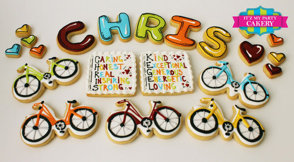 Bicycle Collection Cookies - It'z My Party Cakery