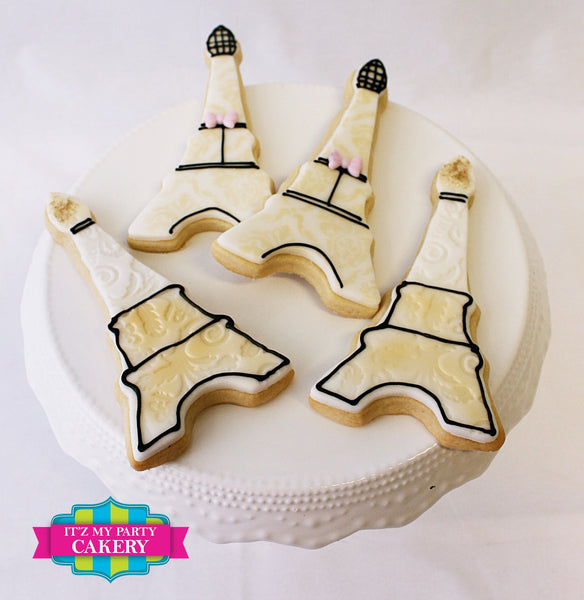 Eiffel Tower Cookies - It'z My Party Cakery