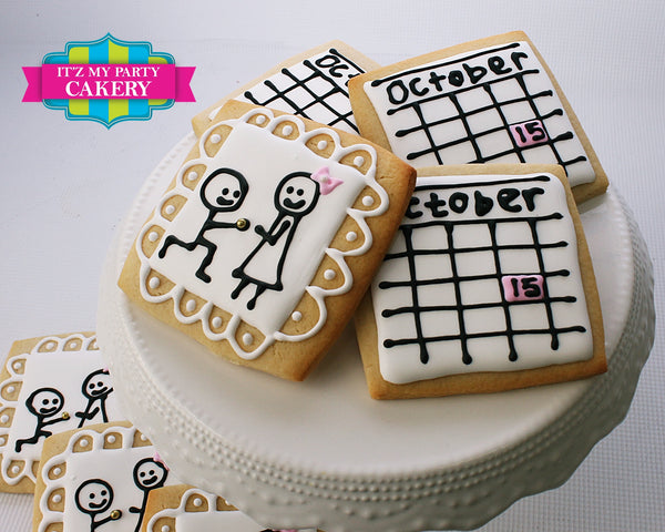 Engagement / Wedding Cookies - It'z My Party Cakery