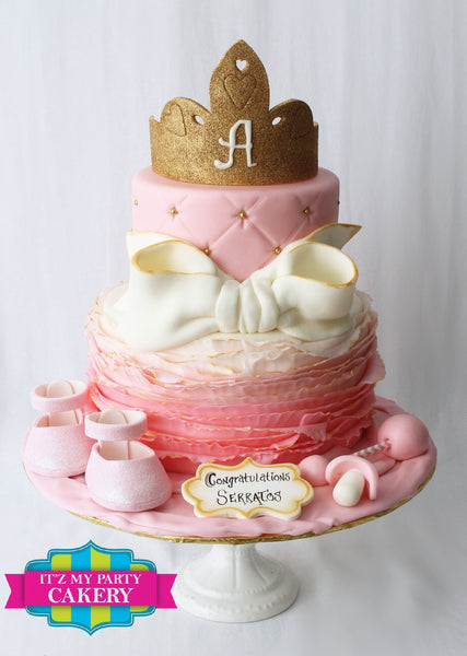 Princess Ruffles Baby Shower - It'z My Party Cakery
