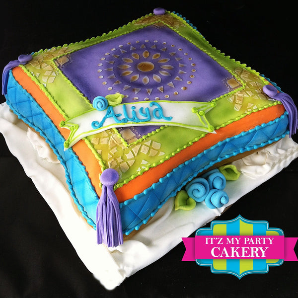 Morraccan Inspired Pillow Cake