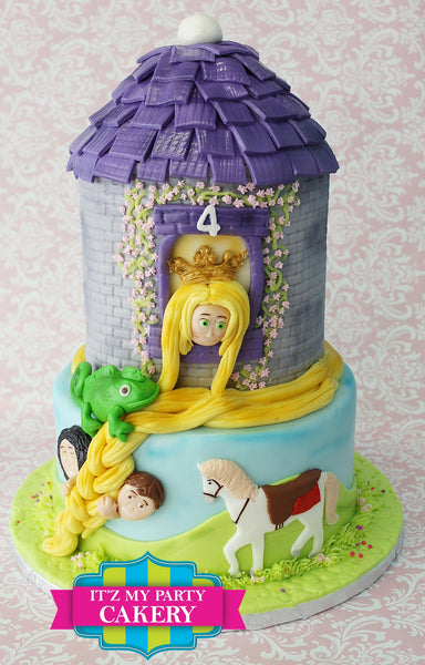 Rupunzel Cake - It'z My Party Cakery