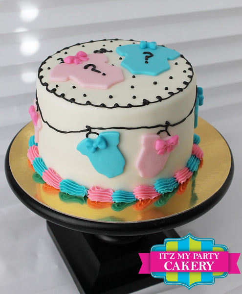 Baby Gender Reveal Cake - It'z My Party Cakery