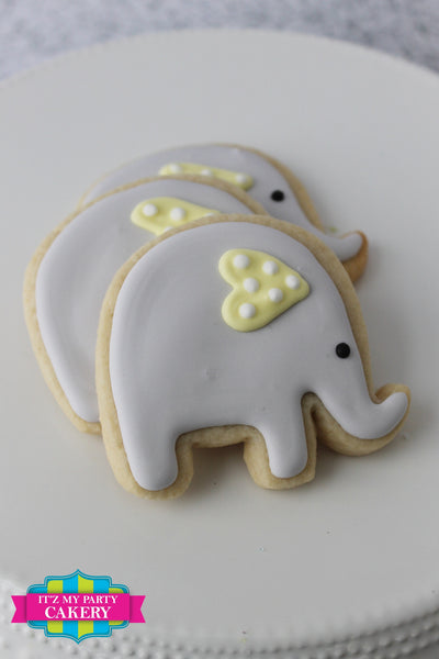 Baby Elephant Cookies - It'z My Party Cakery