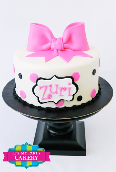 Simple Polka Dots Cake - It'z My Party Cakery