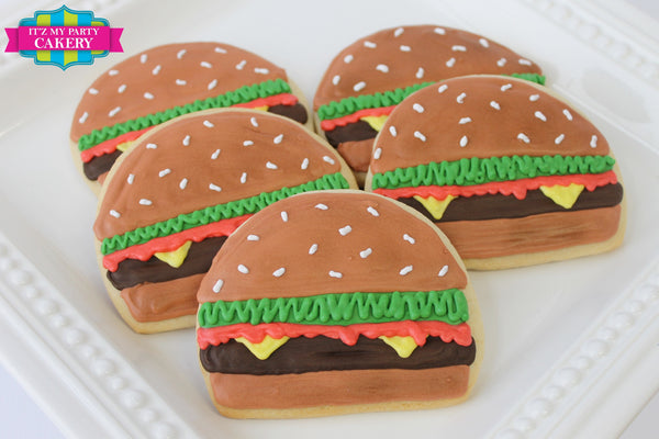 Cheeseburger Cookie - It'z My Party Cakery - 1