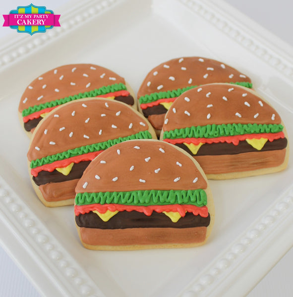 Cheeseburger Cookie - It'z My Party Cakery - 2