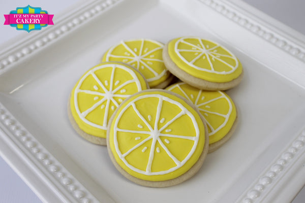 Lemon/Lime Slice Cookies - It'z My Party Cakery - 1