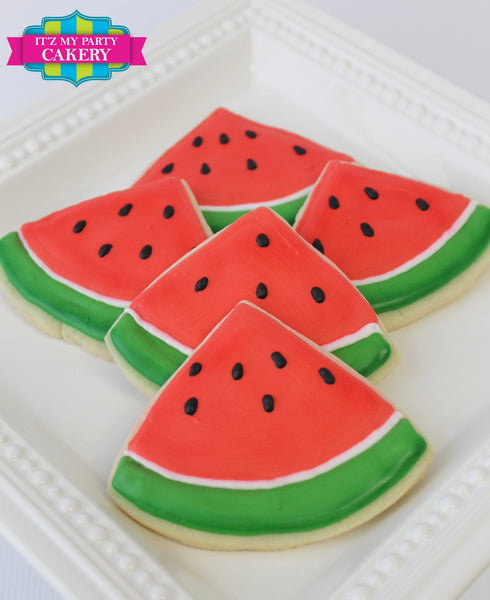 Watermelon Slice Cookies - It'z My Party Cakery - 1