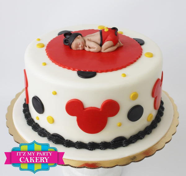 Sugar Baby Mickey Mouse Topper on polka dot and Mickey cutouts