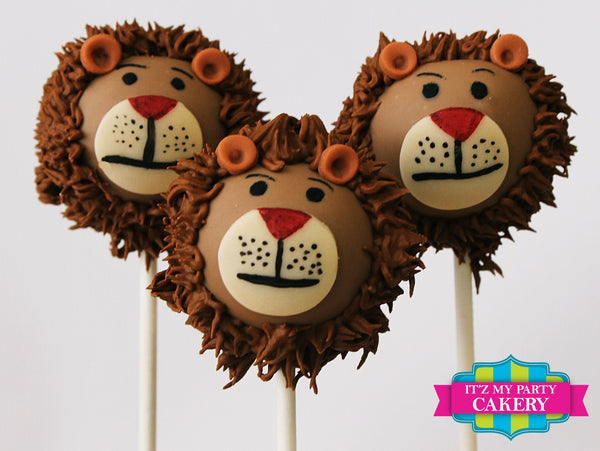 Lion Face Cake Pops - It'z My Party Cakery