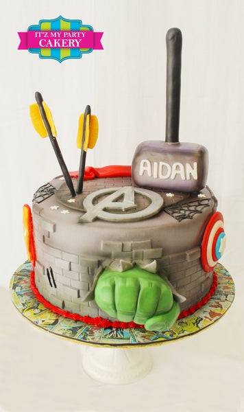 Avengers Cake - It'z My Party Cakery