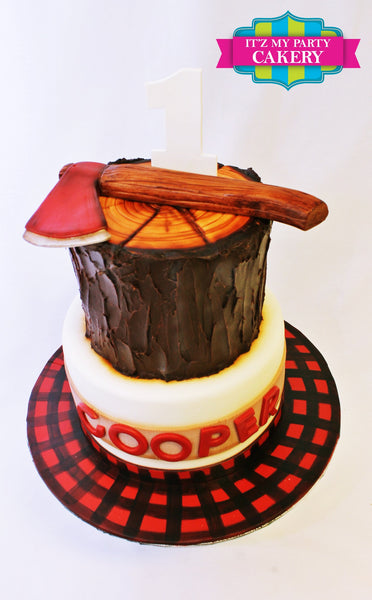Lumberjack Cake - It'z My Party Cakery - 2