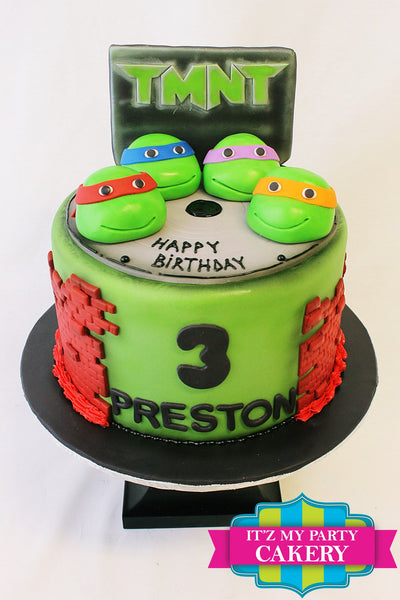 TMNT Cake - It'z My Party Cakery