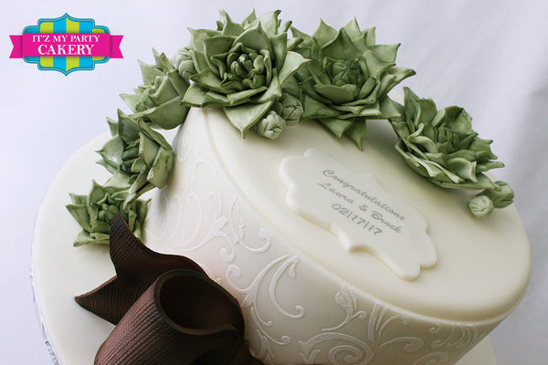 Succulent Bridal Shower - It'z My Party Cakery - 2