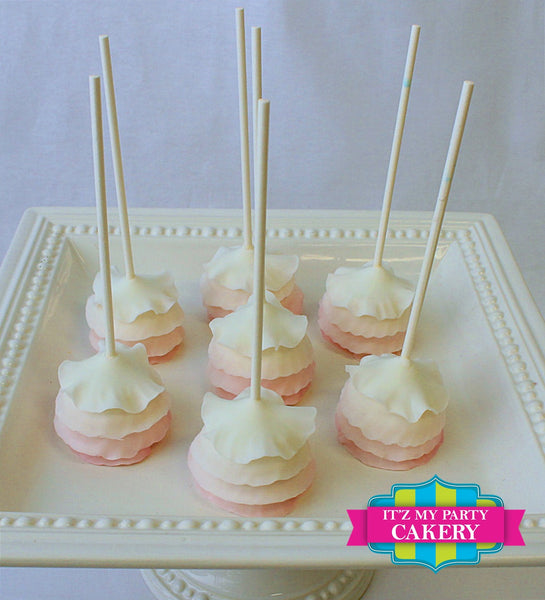Ombre Ruffle Cakepops - It'z My Party Cakery