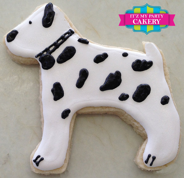 Dalmatian / Dog Cookies - It'z My Party Cakery - 1