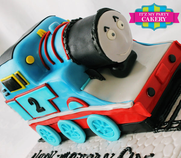 Thomas The Train Sculpted Cake - It'z My Party Cakery