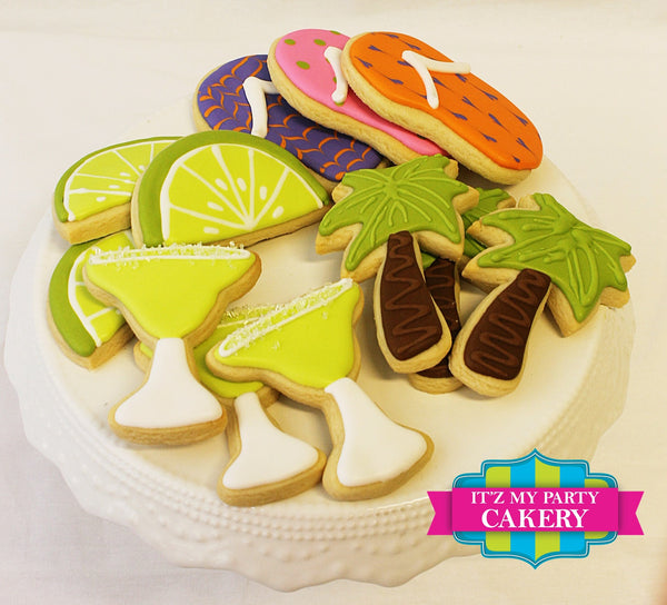 Beach Party Collection Cookies - It'z My Party Cakery