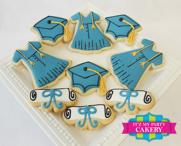 Graduation Set Cookies - It'z My Party Cakery - 2