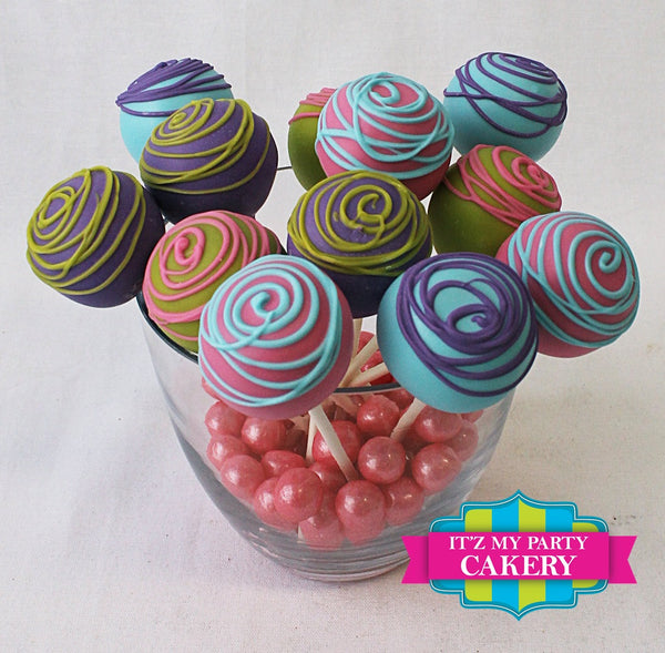 Fun Colors Classic Cake Pop - It'z My Party Cakery