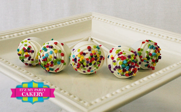 Colorful Sugar Sequin Classic Cake Pop - It'z My Party Cakery