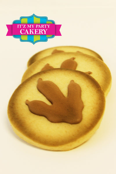 Dinosaur Footprint Cookies - It'z My Party Cakery