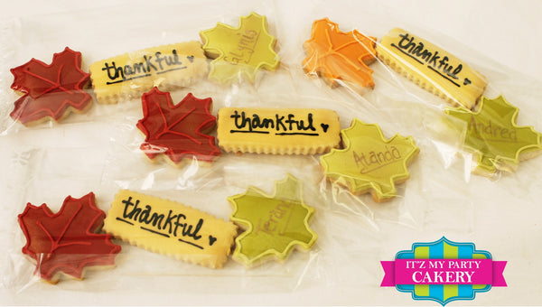 Fall Thankful Cookie Sets - It'z My Party Cakery