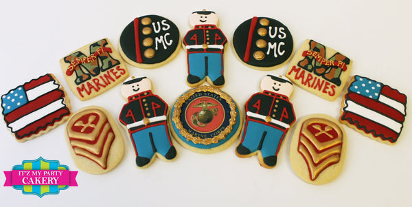 Military Cookies - It'z My Party Cakery - 1