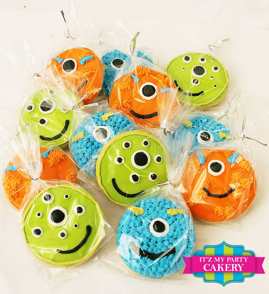 Monster Face Cookies - It'z My Party Cakery