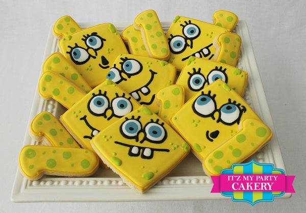 Spongbob Squarepants Cookies - It'z My Party Cakery