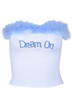 Dream On Strapless Fluffy Top