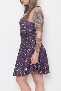 Retro Gamer Skater Dress - Soft Kitty Clothing