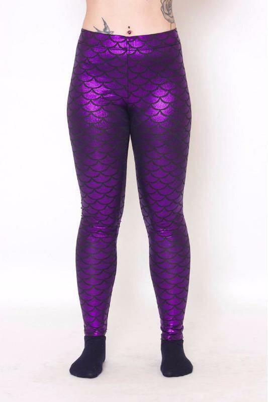 Purple Mermaid Leggings