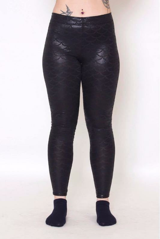 Dark Mermaid Leggings - Soft Kitty Clothing