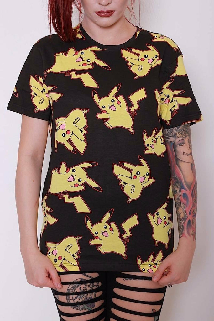Pokemon Pikachu Allover Print T-Shirt