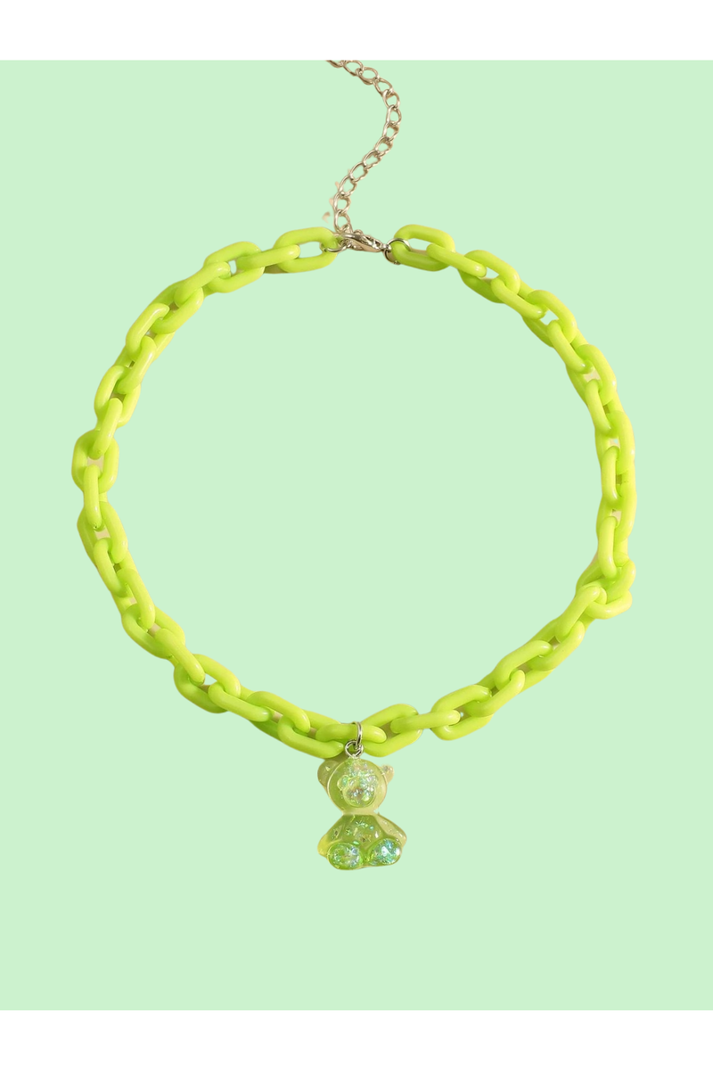 Lime Gummy Bear Necklace