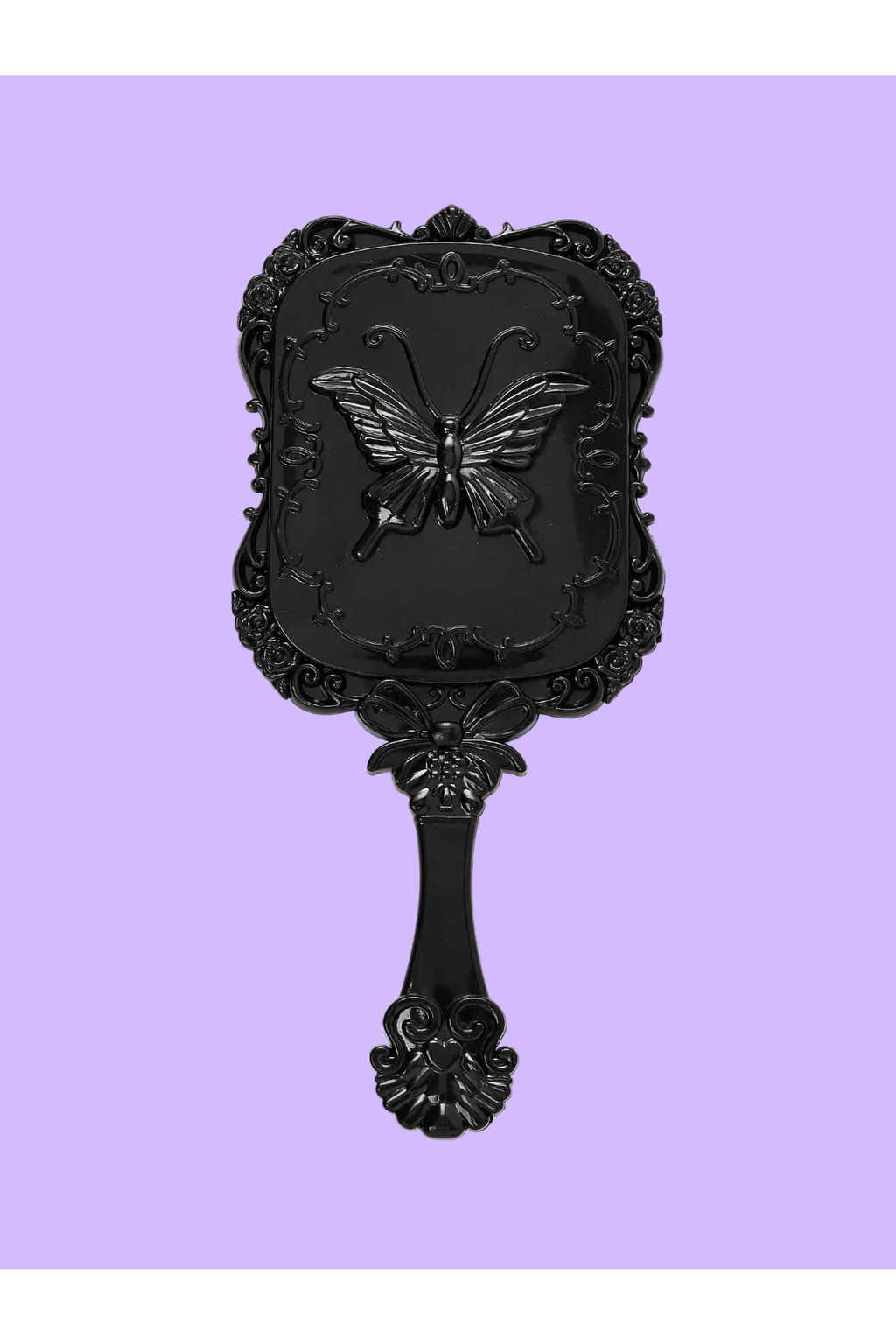 Nocturnal Black Handheld Mirror