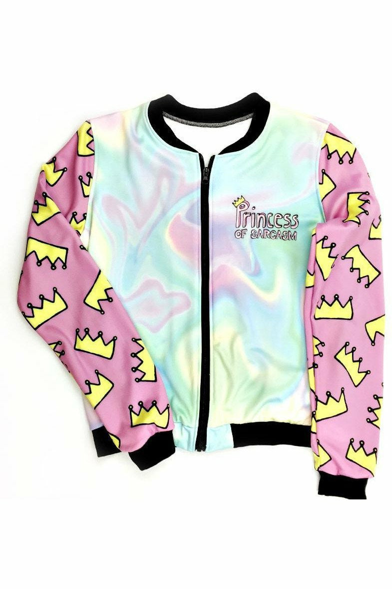 Princess Of Sarcasm Short Bomber Jacket