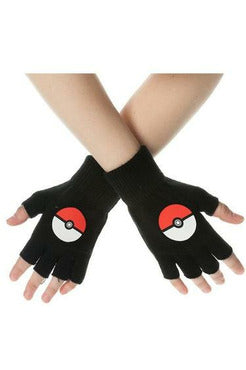 Pokemon Pokeball Fingerless Gloves