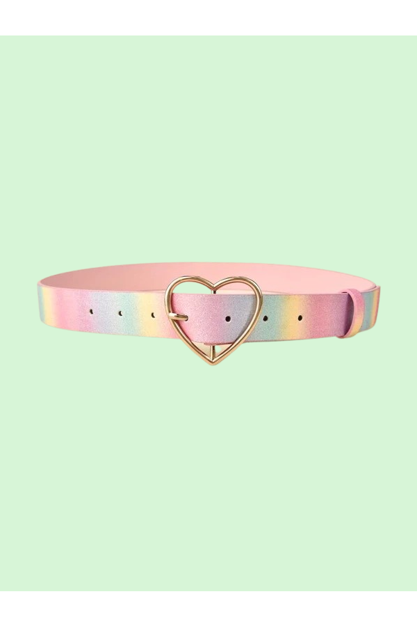Pastel Rainbow Heart Belt