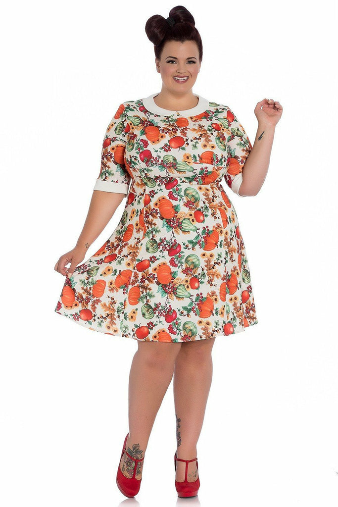 Autumn Pumpkin Patch Dress - Soft Kitty Clothing