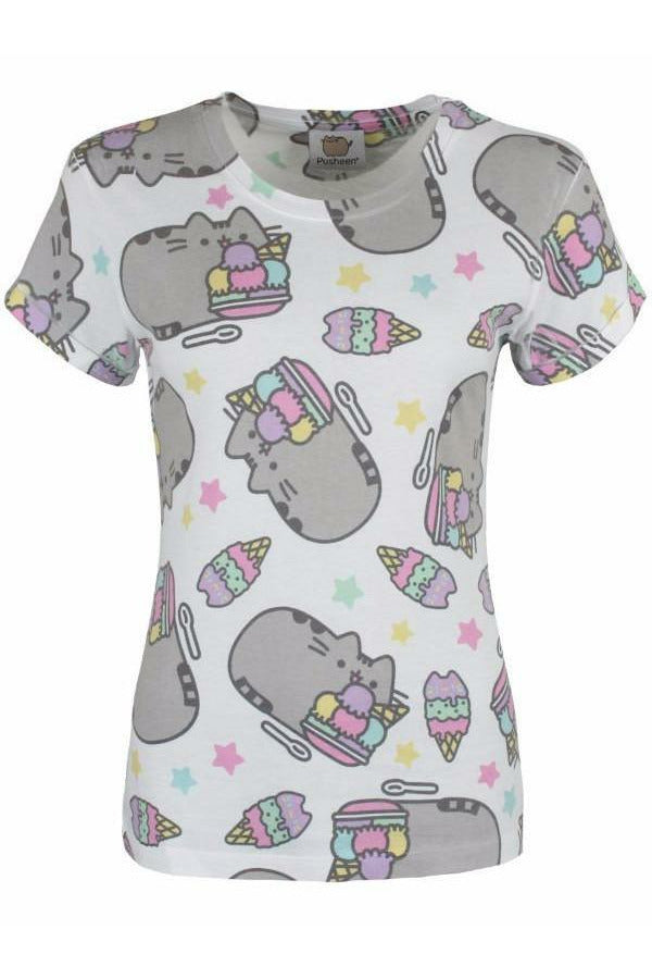 Pusheen Ice Cream Sublimation T-Shirt