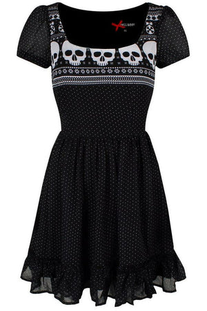 Skeleton-Yule Mini Dress