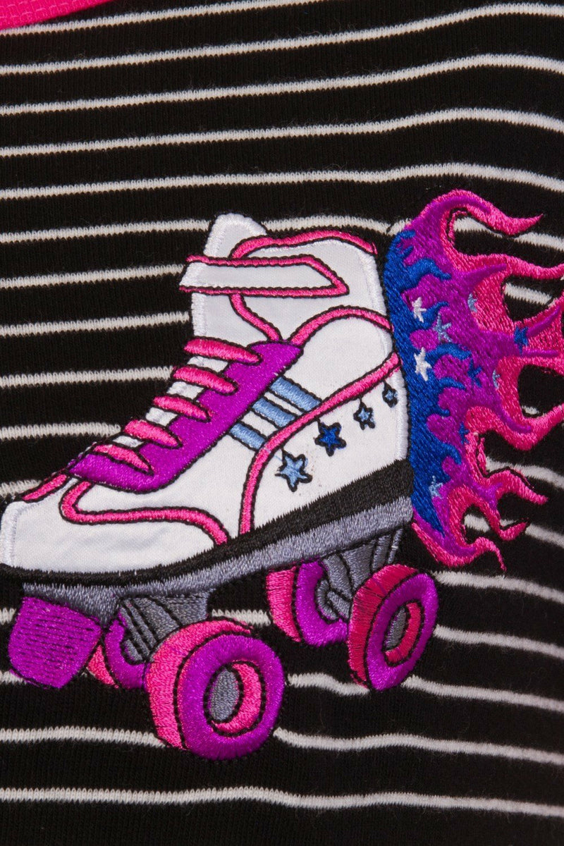 Roller-Skates Stripe Top