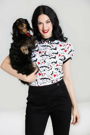 Smoky The Sausage Dog Blouse