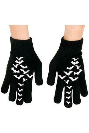 Fly Me Bat Knit Gloves