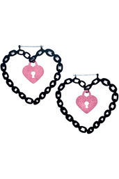 Locked Heart Earrings