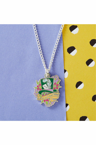 Mad Hatter Enamel Necklace